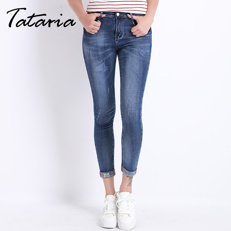 Jeans Female Skinny Pencil Denim Pants For Women Thin Summer Plus Size Pantalon Femme Stretch Trousers Casual Capri Jeans rosicil new women jeans low waist stretch ankle length slim pencil pants fashion female jeans plus size jeans femme 2017 tsl049