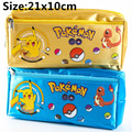 Pokemon Go Pikachu Pencil Pen Case Wallet Bag Cosmetic Make Up Purse Bag Storage Pouch Gift 21x10cm