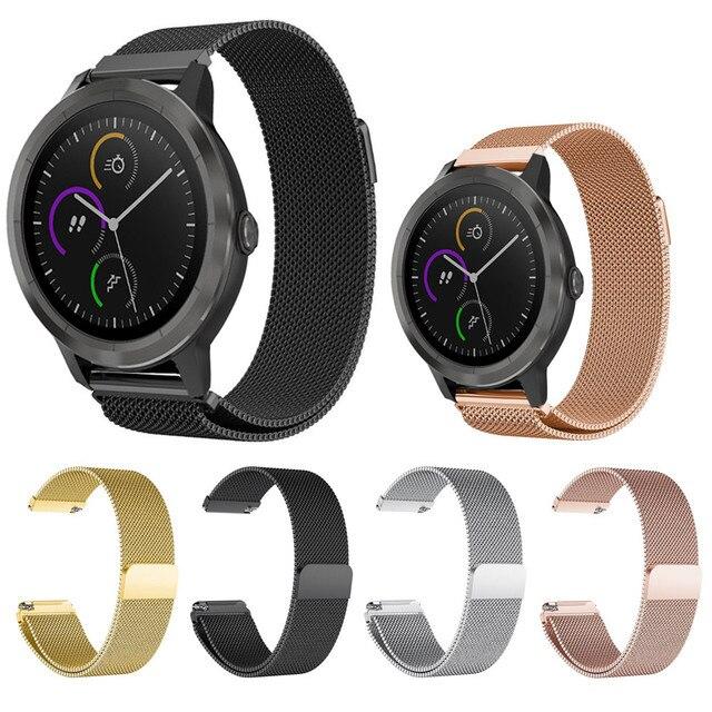 2018 ניו גברים ספורט שעון ליטר אנלוגי מתנה ממילאנו vivoactive לולאה מגנטית נירוסטה שעונים בנד הרצועה עבור Garmin 3