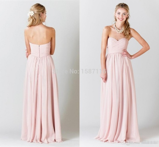 Plus Size Prom Dresses For Chubby Girls A Line Chiffon Strapless