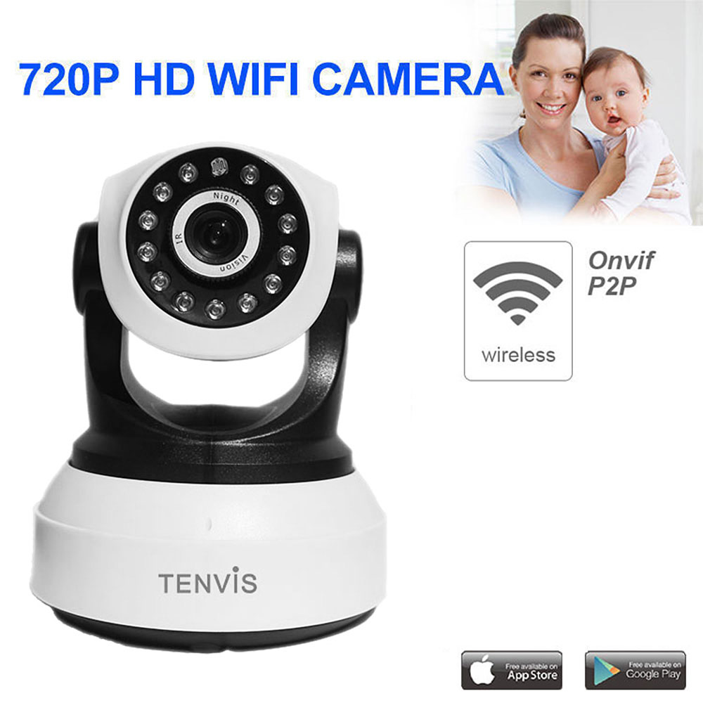 TENVIS IP Camera WiFi Wireless Home Security Camera Surveillance Camera 720P Baby Monitor Night Vision CCTV Camera Onvif P2P Cam s6206y wifi 720p ip security camera p2p night vision remote monitor onvif 2 0