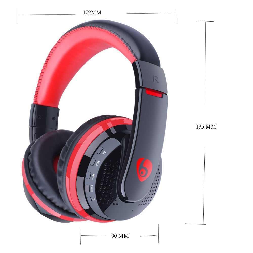 3.5 millimetri Auricolare Cavo MP3 Player con FM Radio di Riproduzione Della Carta di Max a 32GB Bluetooth Cuffia Auricolare Senza Fili Per I Telefoni PC TV Giochi
