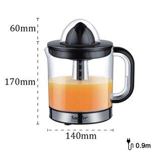 Image 5 - 스테인레스 스틸 오렌지 레몬 전기 Juicers 30W 과일 압착기 신선한 주스 가정용 Sonifer