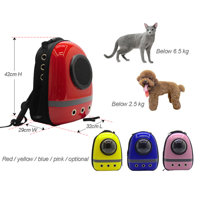 Astronaut Pet Cat Dog Puppy Carrier Travel Bag Space Capsule Backpack Breathable 4