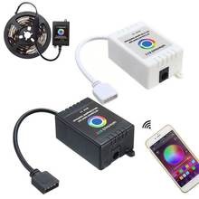 12-24V Music Smartphone App Wireless Bluetooth Remote RGB Controller For 5050 RGB LED Strip For IOS For Android White/Black