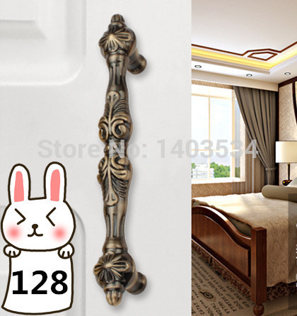 Length 165mm Hole Pitch  128mm antique brass color zinc alloy furniture cabinet drawer antique handle length 115mm hole pitch 96mm zinc alloy handle drawer handle antique furniture handle cabinet handle ivory white color