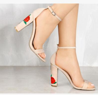53742fb6389 Hot Selling American and European Cheap price Women Embroider heels Sandals  back Strap Open Toe Ladies Shoes-in High Heels from Shoes on Aliexpress.com  ...