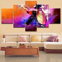 Hot Sell 5 Pieces Top-Rated Printing Painting Michael Jackson Type Poster Modular For Home Decorative Living Room Framework