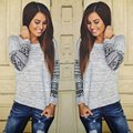 Fashion Autumn Spring Women Lace Loose Cotton Long Sleeve Shirt Casual Tops T Shirt