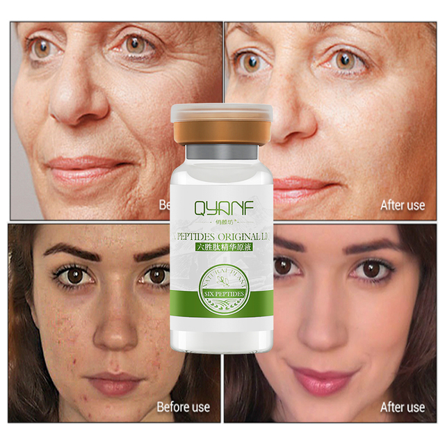 QYF Argireline Serum Face Essence Skin Care Anti Wrinkles Firming Anti Aging Whitening Cream Beauty 10ml