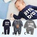 Romper do bebê Crianças Outono Conjunto de Roupas de Bebê Menina Menino Macacão Macacão de Manga Longa Roupas Recém-nascidos 100% algodão Roupas de Bebê