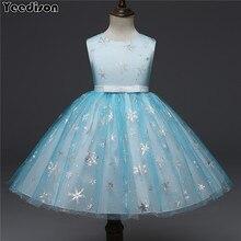 199c913b3 2018 nuevo vestido de la princesa de la boda de las niñas de los niños  fiesta vestidos de copo de nieve impresión niños vestidos.