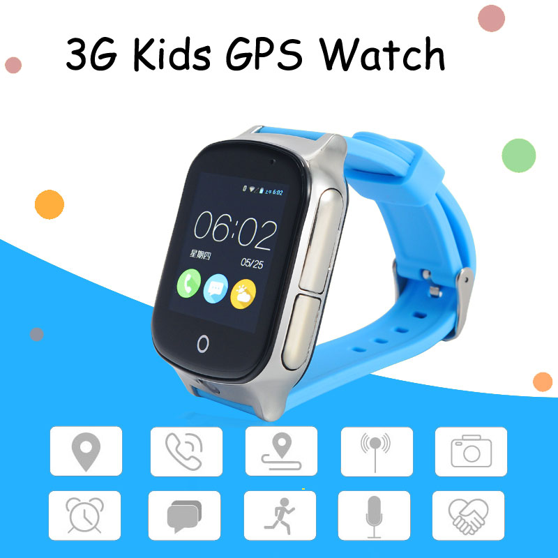 3G Smart GPS Tracker Watch Elderly Kids Wristwatch WIFI Locator With Camera Voice Message SOS Free APP IOS Android Phone image