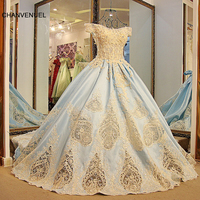 LS54711 Mooie arabische stijl avondjurken korte mouwen corset terug baljurk jurken 2016 lichtblauw 100% real foto