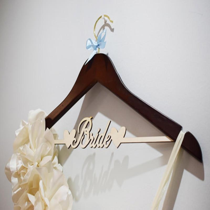 Wedding Dress Hanger.Us 20 49 18 Off Custom Laser Cut Name Hanger Bridal Wedding Hanger Wedding Dress Hanger Personalized Laser Cut Wedding Hanger In Hangers Racks