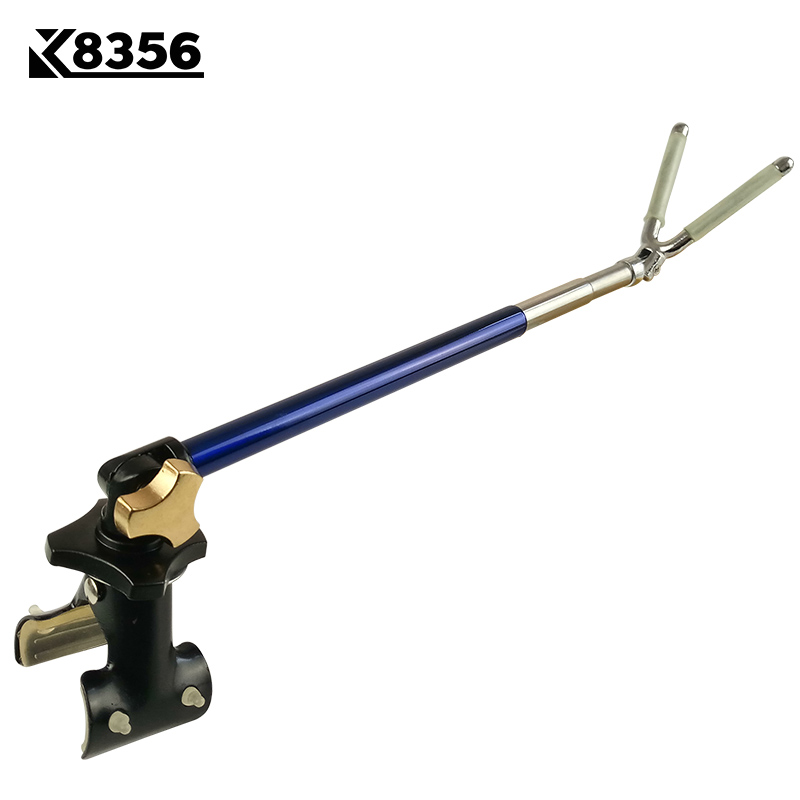 K8356 Metal Outdoor V Head Hanging Rod Noctilucent Bracket Anti Skidding Fort Holder Fishing Racks Rod Fishing Tackle Tools