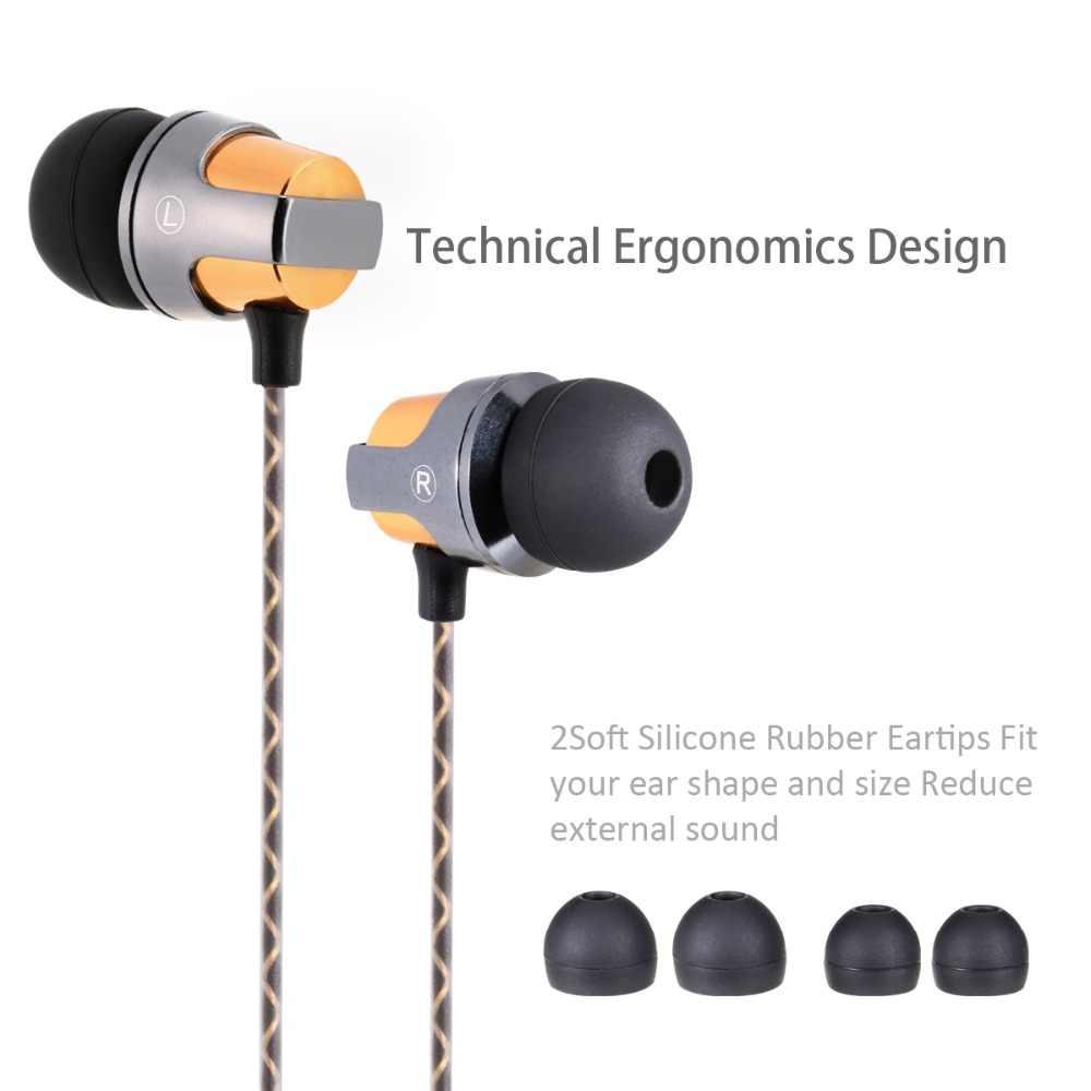 Bada en la oreja los Auriculares auriculares con micrófono con cable magnético auriculares dj mp3 jugador estéreo Bass auriculares de computadora para teléfono deporte