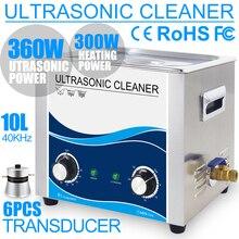10L Ultrasonik Temizleyici Isıtıcı 240 W 360 W Paslanmaz Çelik Tankı 40 KHZ Mekanik Ultrason Yıkama Bisiklet Zinciri için Motor parçaları