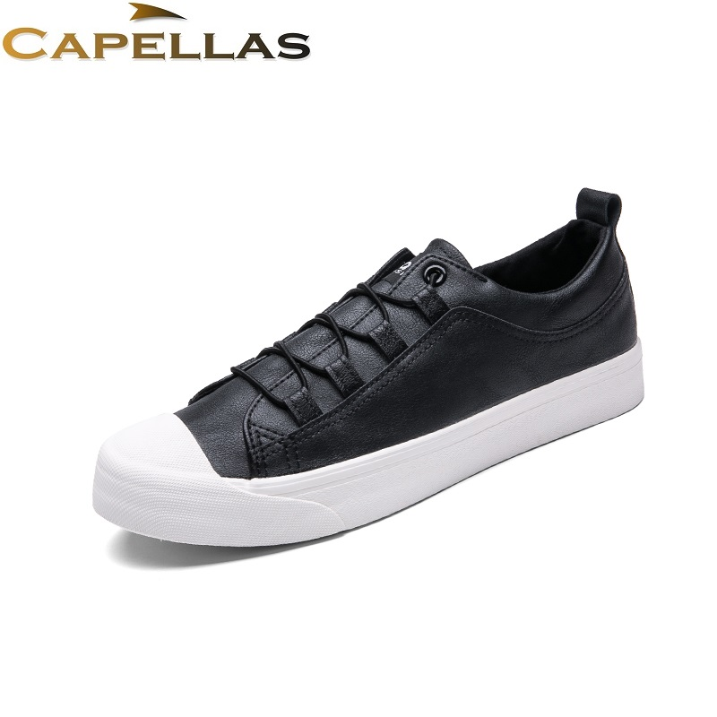 CAPELLAS Mens Leather Shoes Fashion Brand Men`s Casual Shoes Spring Autumn Men Shoes Zapatos Hombre Size 39-44 z suo men s shoes the new spring and autumn ankle leather casual shoes fashion retro rubber sole lace mens shoes zsgty16066
