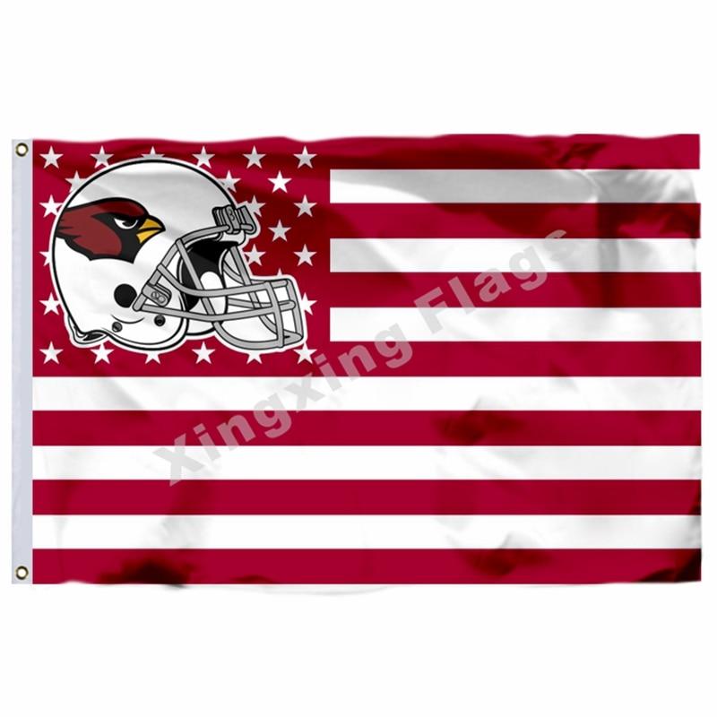 Arizona Cardinals Helmet Horizontal Strip Flag 3ft x 5ft Polyester NFL Team Banner Flying Size No.4 144* 96cm Custom flag