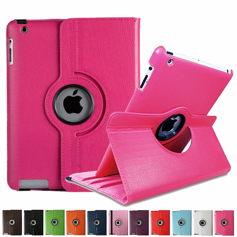 360 Rotating PU Leather Case For Ipad 2 3 4 Cover For Ipad A1460 A1459 A1458 A1416 A1430 A1403 A1397 A1396 A1395 9.7 Inch Tablet