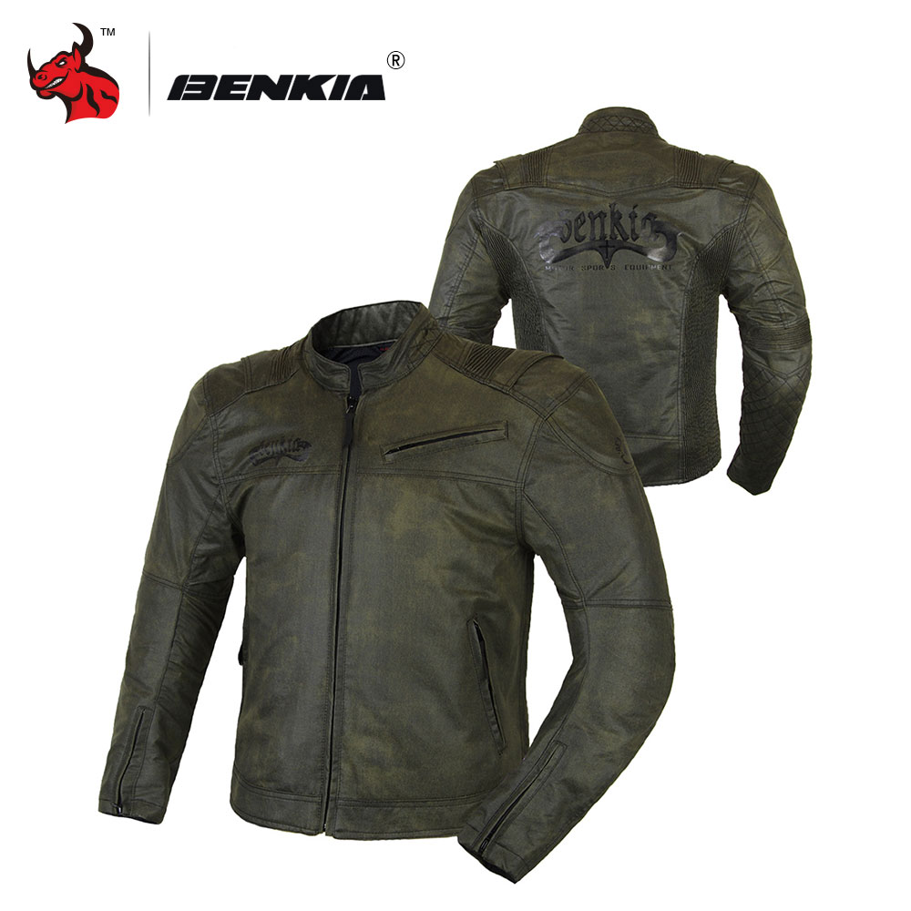 BENKIA Motorcycle Jackets Motocross Off Road Racing Jacket Medieval Retro Style Moto Jacket Moto Summer Jacket
