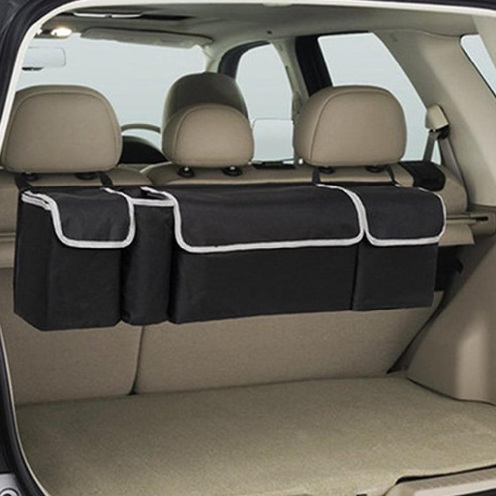 Auto Veranstalter Stamm Rücksitz Einstellbare Speicher Tasche Net Hohe Kapazität Multi-verwenden Oxford Zurück Innen Zubehör Automobil Sitz