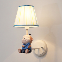 modern cartoon monkey wall lamps art deco mermaid lights creative LED bedside lamp for children bedroom light wall  decorative