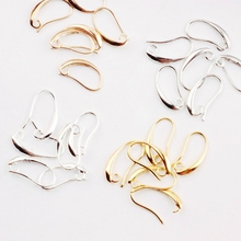 10*19mm 20pcs Silver Gold Plated French Earring Hooks Wire Settings Base Settings Jewelry Accessories