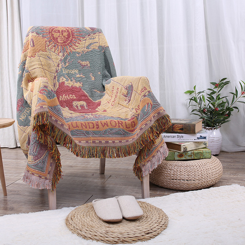 Practical Colorful Cotton Blanket Super Soft Sofa Decorative Slipcover Throws On Sofa/Bed/Plane Travel  Blankets YHE018  american lattice blanket sofa decorative slipcover throws on sofa bed plane travel plaids rectangular color stitching blankets