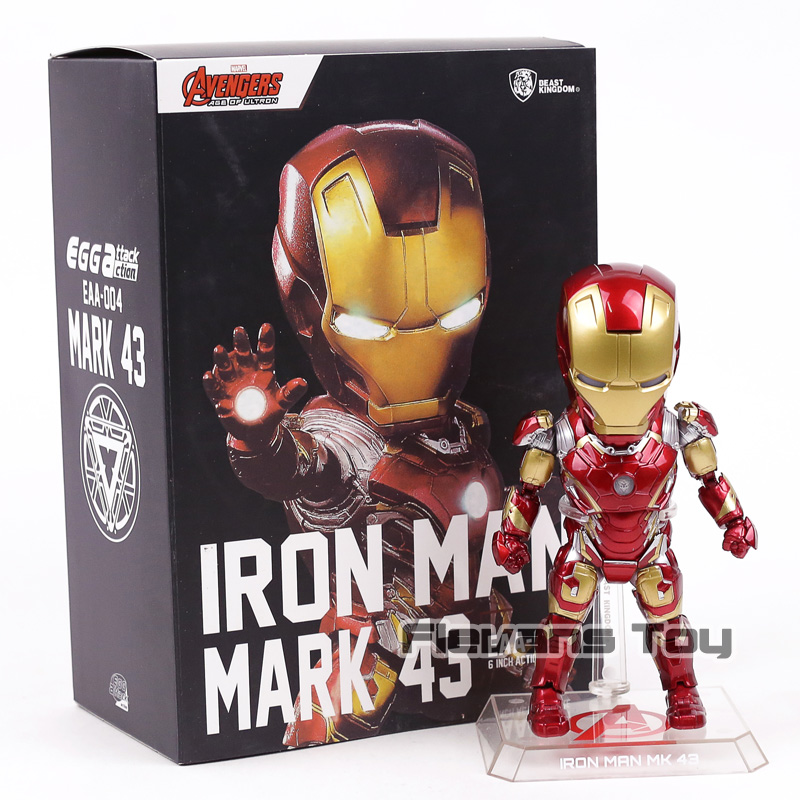 Avengers Iron Man MARK 43 MK43 PVC Actio Figure Egg Attack Collectible Model Toy marvel the avengers stark iron man 3 mark vii mk 42 43 mk42 mk43 pvc action figure collectible model toys 18cm kt395