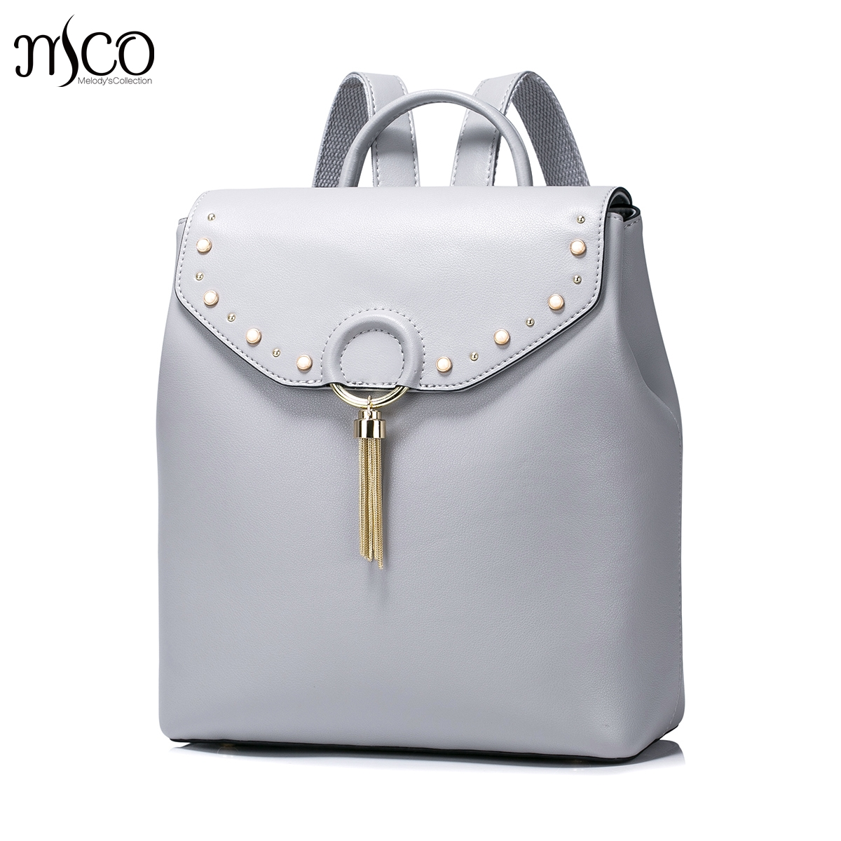 High Quality Fashion Genuine Leather Soft Backpack For Women Tassels Pearls Ring Diamond Shoulder Bags School bag Daypack Travel sweet college wind mini school bag high quality pu leather preppy style fashion girl candy color small casual backpack xa384b