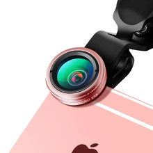 Ecusells 2 in 1 0.45X Wide Angle+25X Super Macro Camera Lens Kit for Smartphones Lenses for IPhone 7 Xiaomi Lente Para Celular(China)