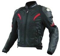 2017 new wholesale JK 052 titanium alloy motorcycle jacket men's leather racing jacket jacket moto protection jacket