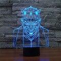 HOT 3D Magic Bulbificação Lâmpada Luz Da Noite LEVOU Estrela Guerra Cavaleiro Jedi Modelo Dom Brinquedos para Criança de Mesa LEVOU Decoração Nightlight