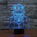 HOT Magic 3D Bulbing LED Night Light Lamp Star War Jedi Knight Model Toys Gift for Child LED Desk Decor Nightlight