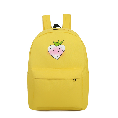 b5519130c513 US $29.99 |Korean version of the small fresh book bag Harajuku campus text  printing students female campus canvas backpack-in Backpacks from Luggage &  ...