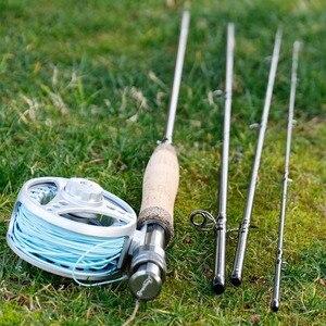 Image 5 - Sougayialng canne à pêche à la mouche en carbone #5/6 canne à pêche 2.7M canne à mouche 4 Sections cannes dures truite canne à pêche matériel de pêche Pesca