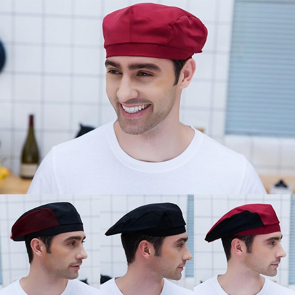 High QualityChef Hats Cafe Bar Waiter Beret Restaurant Kitchen Workwear Baking Caps Men Women Breathable Forward Caps Chef Hats