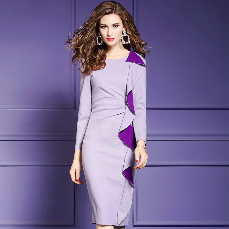 sexy work Slim dress Spring 2019 new Superior quality ladies Party long sleeve Dress plus size