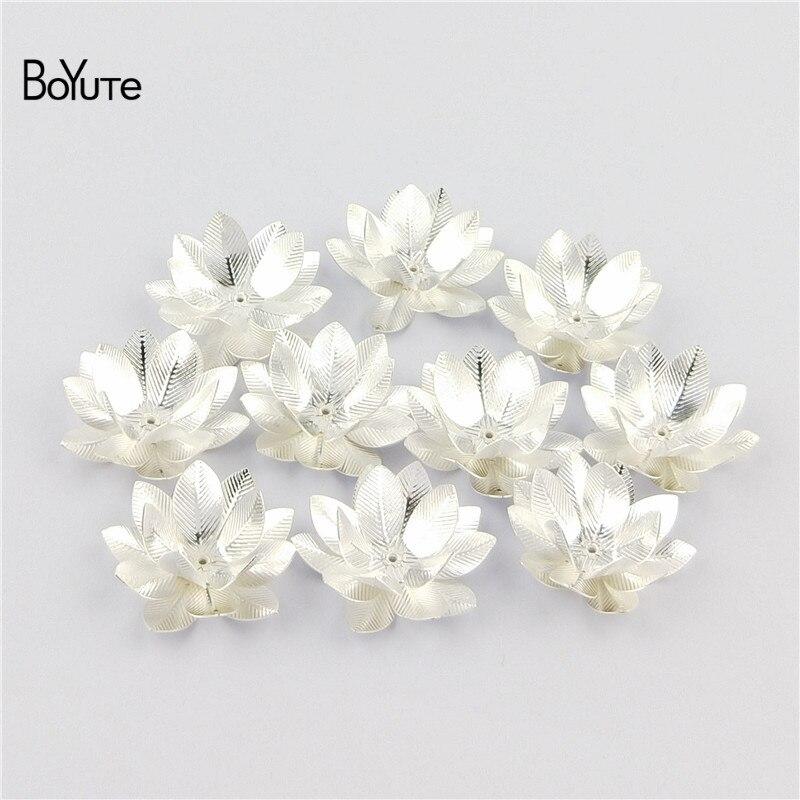 BoYuTe (10 PiecesLot) 26MM Silver Gold Bronze Metal Brass Filigree Flower Decoration (2)