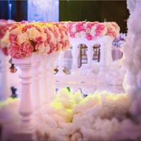Roman Column Fence Europe Plastic Aisle Runner Fences For Wedding Road Leads Decoration Photo Booth Props Supplies