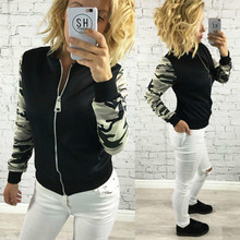 Women Quilted Classic Zip Up Short Jacket Bomber Biker Coat Outerwear Printed Winter Women Slim Jackets Plus Size S-2XL