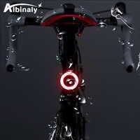 Vélo créatif lumière mode d'éclairage multiple USB charge LED vélo lumière flash vélo feux arrière VTT tige de selle