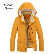2019 新冬黄色ボンバージャケット男性ストリートヒップホップスリムフィットパイロットボンバージャケットコート男性ジャケットプラスサイズ 3XL