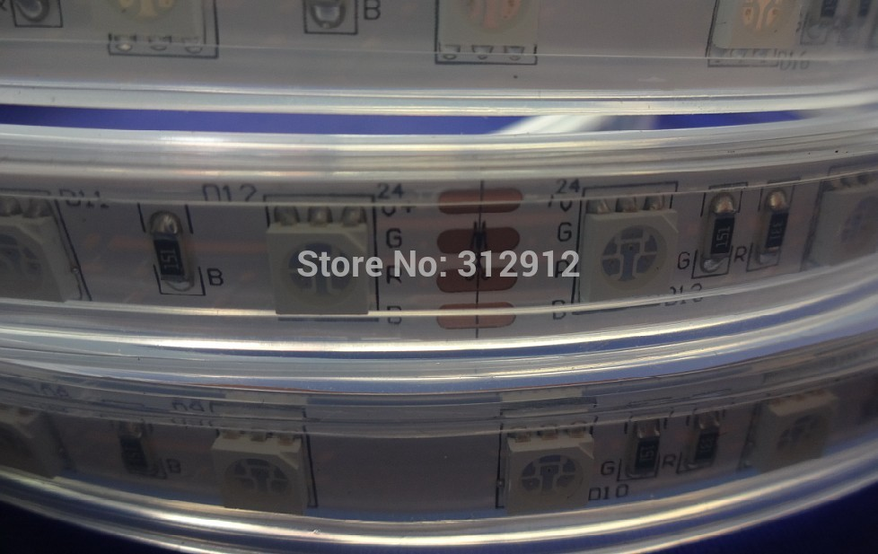 DC24V LED strip 5050 SMD flexible light 60LED/m,5m 300LED,White,warm,Blue,Green,Red,Yellow;RGB;waterproof silicon tube;IP66