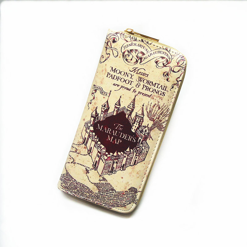 Harry Potter Zipper PU Long Wallet License Wallets  Fashion Lady handbag
