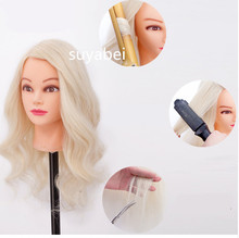 85% natural human hair mannequin head wig styling women