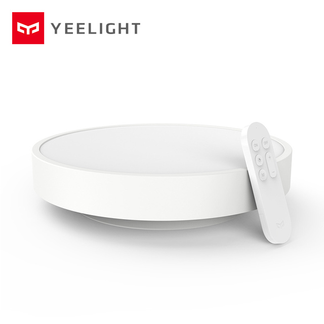 Lâmpada de teto inteligente yeelight, lâmpada inteligente,, lâmpada com controle remoto por aplicativo, wifi, bluetooth, cores led ip60, a prova de poeira 2020