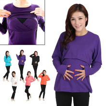Long Sleeve Leisure Wear Breast Feeding Nursing Maternity Clothes Pregnant Women